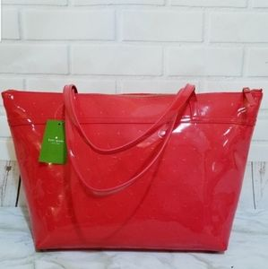Kate Spade $198 Sophie Chili Red with Bow Tote Bag